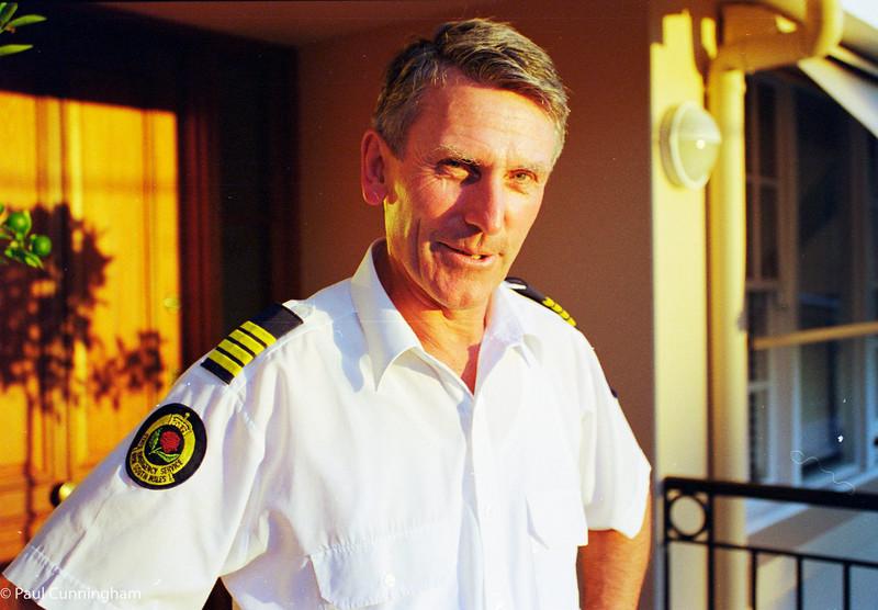 David Cunningham in SES uniform
