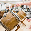 Crespi Carmelite High School Taiko drummers practice for Homecoming