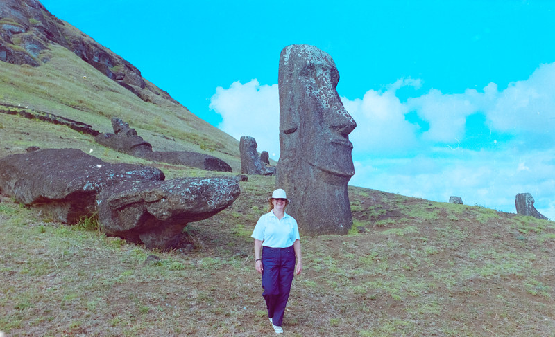 Tour Manager Julie at Easter Island