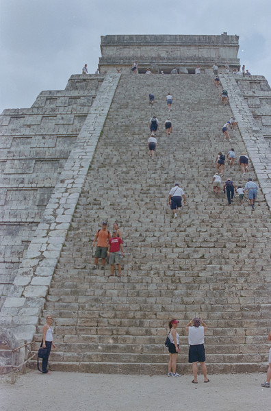 Crew at Chichen Itza, Mexico