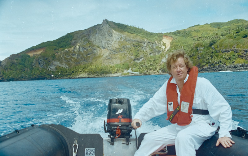 Chief Engineer Mark Cameron  at Pitcairns Island