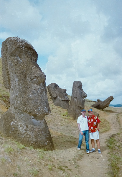 Christian and Nick at Easter Island
