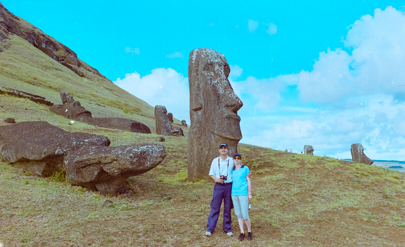 Nicky Nicolai and Tanja at Easter Island.