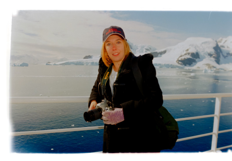 Assistant Photo Manager Jenny Purdy at Antarctica