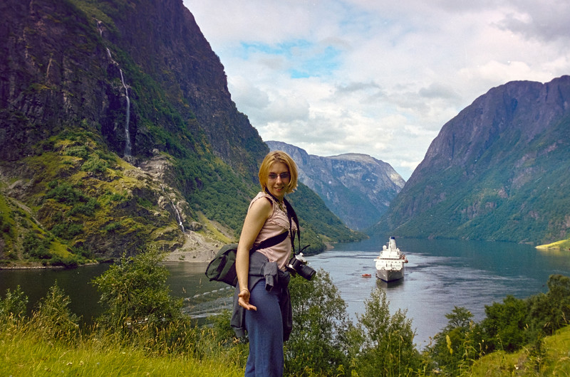 Assistant Photo Manager Jenny at Flam, Norway