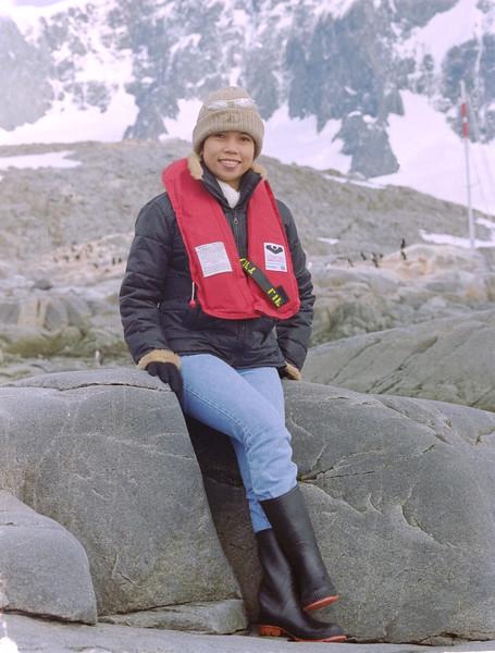 Carlota at Antarctica