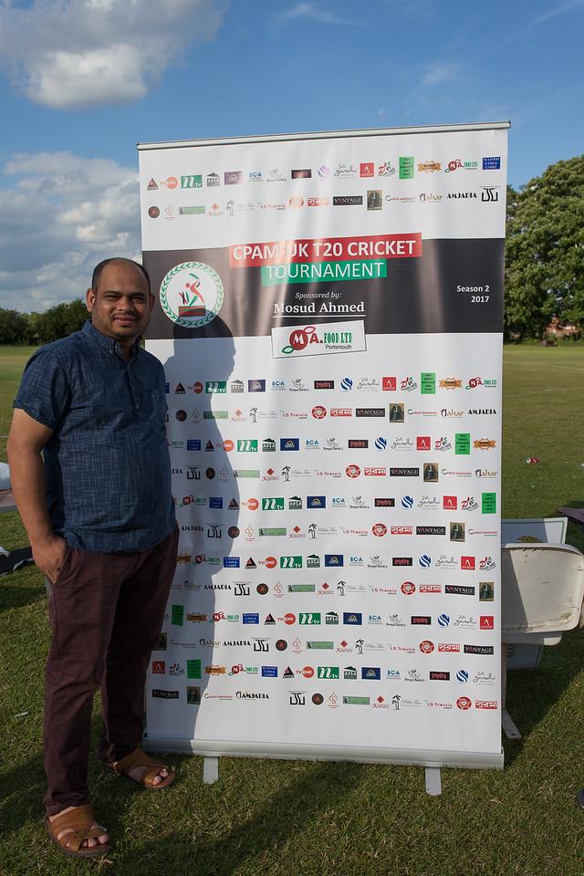 CPAM UK 2017 TOURNAMENT - Edmonton Cricket Club. 03.07.2017