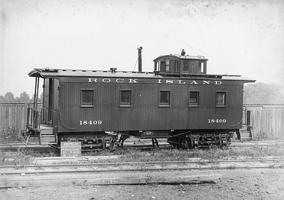2020.016.C.001N--phil weibler collection 10x13 print--CRI&P--wooden caboose 18409 (AC&F lot 5492)--St Charles MO--1909 0803. Series 18390-18449.