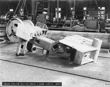 2020.016.W.024--phil weibler collection 8x10 print--CRI&P--crane base casting--location unknown--no date