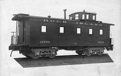 2020.016.C.001Q--phil weibler collection 11x14 print--CRI&P--wooden caboose 18700--location unknown--no date