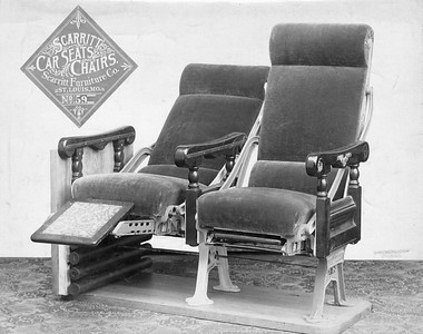 2020.016.PS.010--phil weibler collection 8x10 print--CRI&P--Scarritt passenger car seat display--St Louis MO--no date