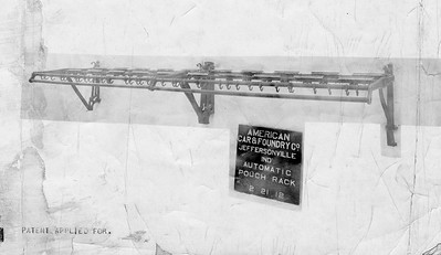 2020.016.PH.322--phil weibler collection 8x10 print--CRI&P--pouch rack for RPO car (AC&F)--Jeffersonville IN--1912 0221