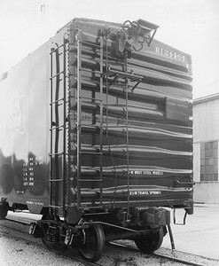 2020.016.F.097--phil weibler collection 8x10 print--CRI&P--boxcar 24464 (AC&F Chicago) end view--location unknown--c1950 0000