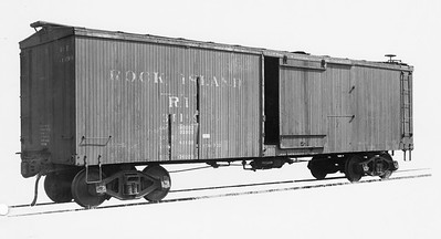 2020.016.F.006--phil weibler collection 8x10 print [Bodies Art Studio]--CRI&P--wooden boxcar 34199 before rebuild to stockcar--Chicago IL--1935 0000. 411 B-1 boxcars rebuilt to stockcars 75400-75870 series by Ryan Car Co., Hegewisch, IL, 1935.