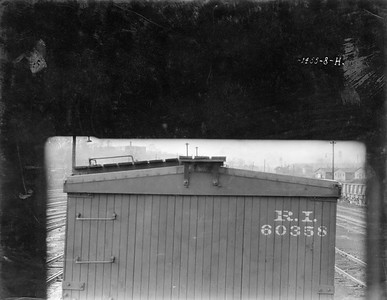 2020.016.F.011N--phil weibler collection 8x10 print--CRI&P--wooden boxcar 60358 end view detail--location unknown--no date