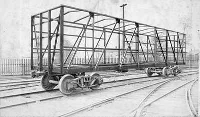 2020.016.F.013C--phil weibler collection 8x14 print--CRI&P--33900 series wooden boxcar frame under construction (AC&F)--Jeffersonville IN--no date