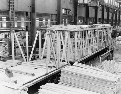 2020.016.F.009B--phil weibler collection 8x10 print [RP Longanecker]--CRI&P--wooden boxcar under construction (General American)--location unknown--1924 0222