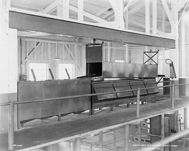 2020.016.OD.016--phil weibler collection 8x10 print--SOU--diesel locomotive shop interior view parts washer--Ludlow KY--no date