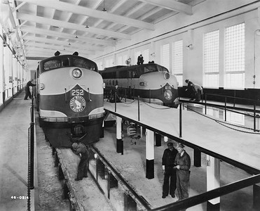 2020.016.OD.003--phil weibler collection 8x10 print--GN--new diesel shop interior view--Havre MT--1945 0000