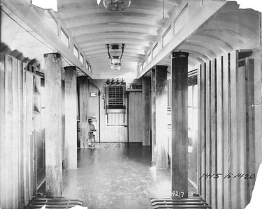 2020.016.PH.019--phil weibler collection 8x10 print--CRI&P--baggage-express-RPO 1418 (AC&F lot 4217) interior--Jeffersonville IN--no date