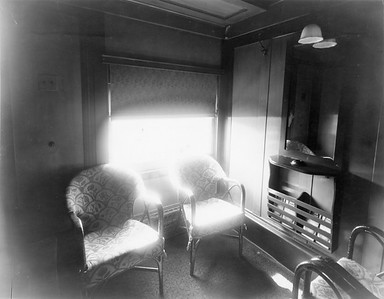 2020.016.PH.010--phil weibler collection 8x10 print--CRI&P--obs-parlor car 760 interior built in RI shops (air conditioning added)--location unknown--1936 0700