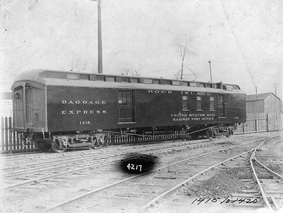 2020.016.PH.018--phil weibler collection 8x10 print--CRI&P--baggage-express-RPO 1418 (AC&F lot 4217)--Jeffersonville IN--no date
