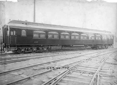 2020.016.PH.002Q--phil weibler collection 10x14 print--CRI&P--wooden chair car 697 (series 693-702 AC&F lot 3917)--Jeffersonville IN--c1911 0000