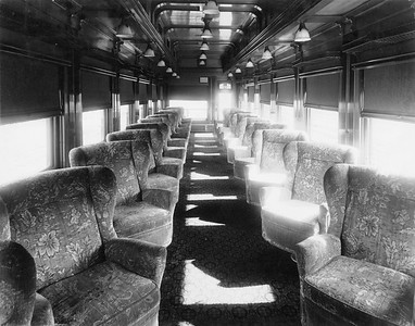 2020.016.PH.012--phil weibler collection 8x10 print--CRI&P--obs-parlor car 760 interior built in RI shops (air conditioning added)--location unknown--1936 0700
