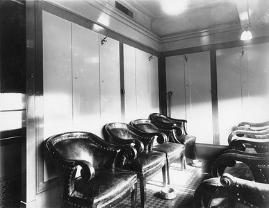 2020.016.PH.011--phil weibler collection 8x10 print--CRI&P--obs-parlor car 760 interior built in RI shops (air conditioning added)--location unknown--1936 0700