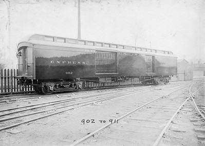 2020.016.PH.013B--phil weibler collection 10x14 print--CRI&P--wooden express-baggage car 902 (902-911 series AC&F lot 4252)--Jeffersonville IN--c-1912 0000