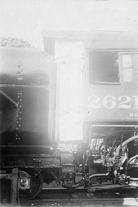 2020.016.S.016--phil weibler collection 5x7 print--CRI&P--ALCO steam locomotive 2-8-2 I-63 2618 cab detail--location unknown--c1923 0000
