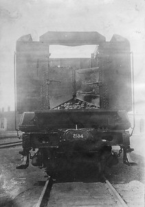 2020.016.S.027--phil weibler collection 5x7 photostat--CRI&P--steam locomotive 2-8-2 2504 tender front end view--location uknown--no date