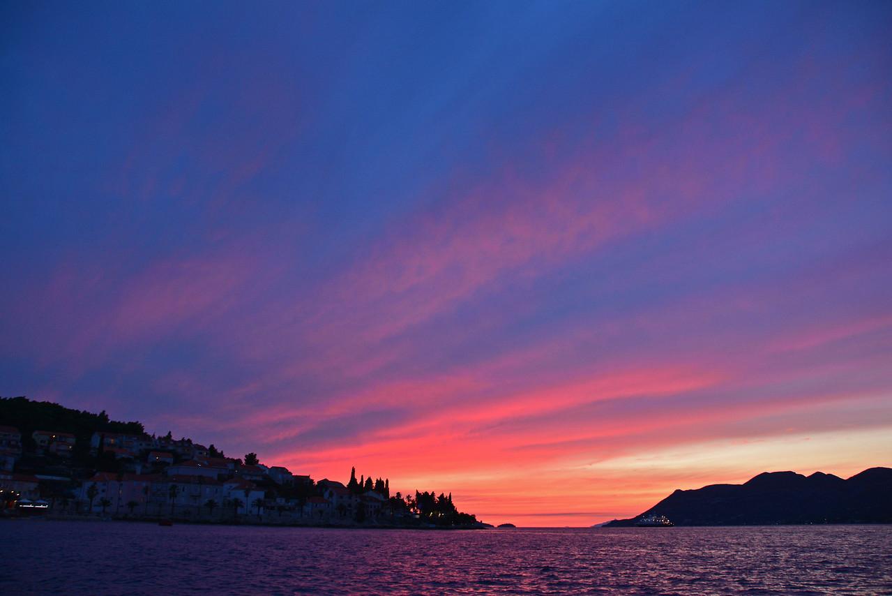 Sunset Korcula Croatia
