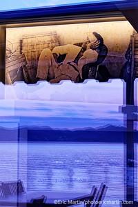 L'archipel des Elaphites en Croatie. Ile de Lopud. Resaurant Obala, une institution fondée dans les années 30 par le grand-père  (ici sur la photo ) des propriétaires actuels
