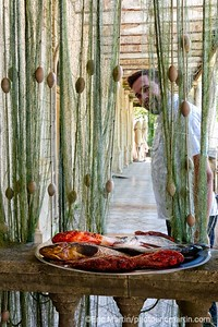 L'archipel des Elaphites en Croatie. Ile de Sipan. Village de Šipanska Luka. Le restaurant de poissons Tauris, l'un des meilleurs de la région.
