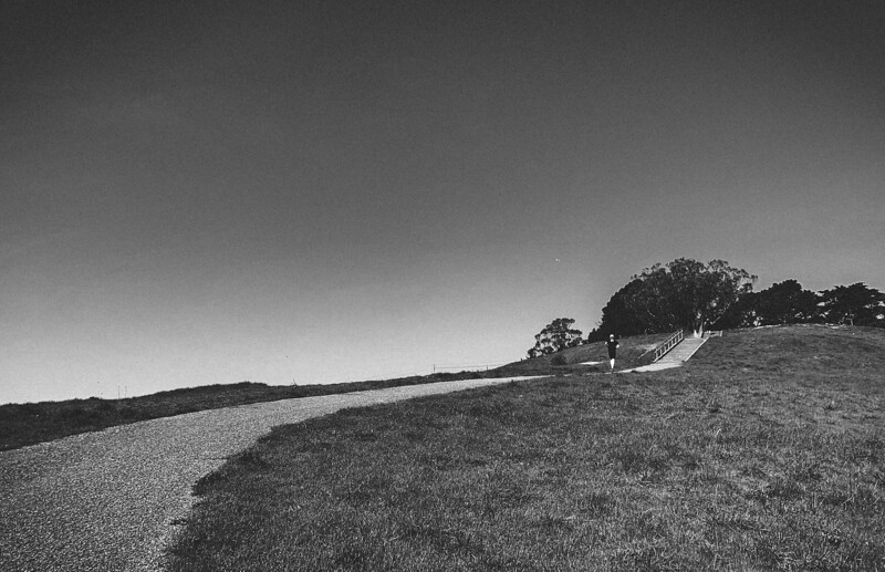 LUKE WICKER on the first big climb of the Crosstown Trail out of Visitacion Valley and into McLaren Park