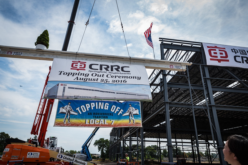 CRRC Topping Off Ceremony