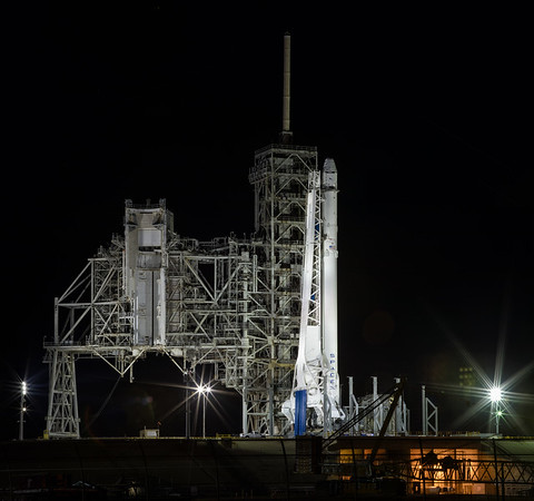 CRS10 Falcon9 by SpaceX at night
