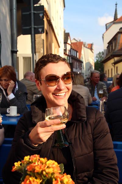 Aschaffenburg Germany, Enjoying Rhine Wine