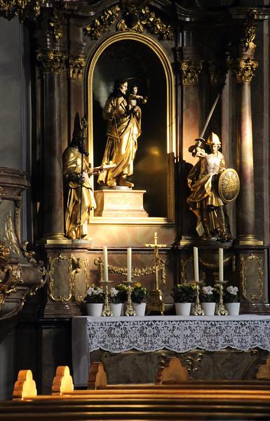Aschaffenburg Germany,  Zu unserer  lieben Frau Church altar