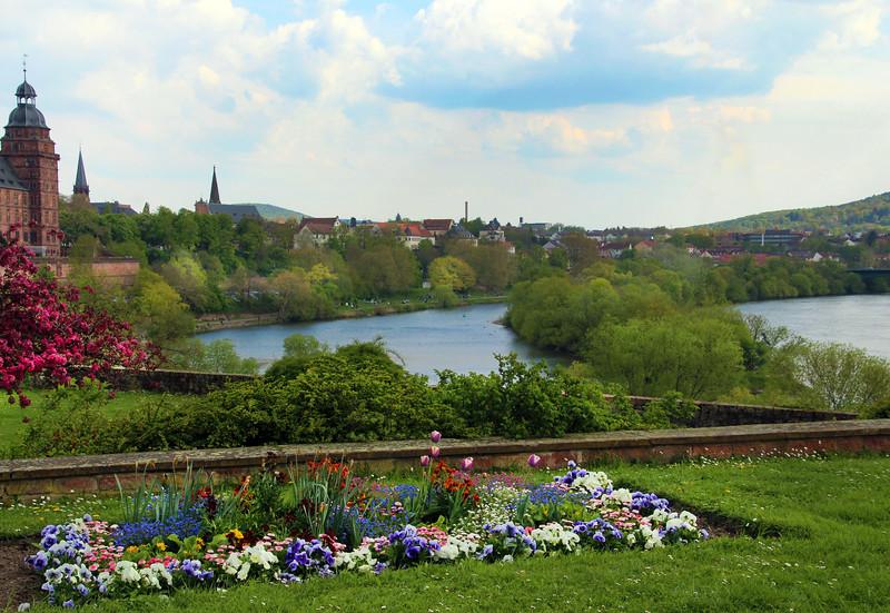 Aschaffenburg Germany, View on City from Pompejanum