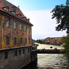 Bamberg Germany, Scene on Bridge