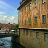 Bamberg Germany, Altes Rathaus and Bridge