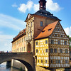 Bamberg Germany, Altes Rathaus vertical