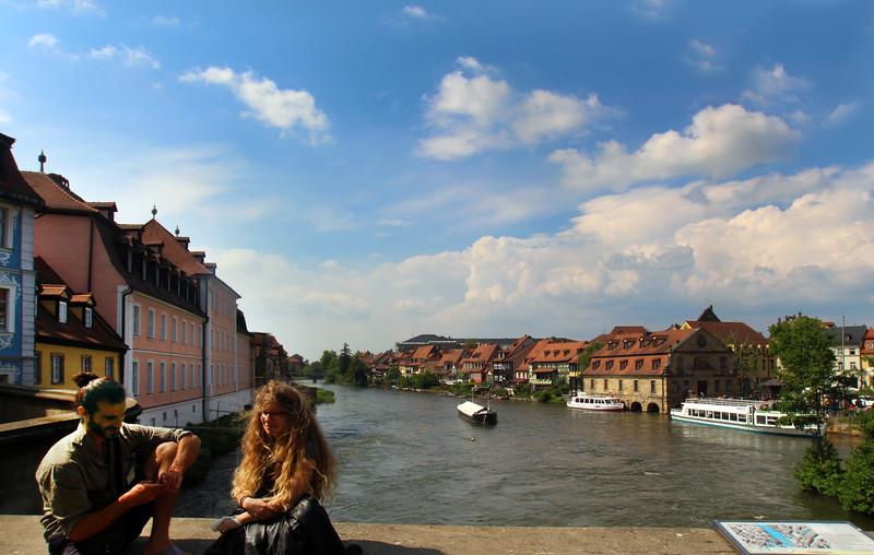 Bamberg Germany, Couple on Bridge