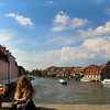 Bamberg Germany, Couple on Bridge