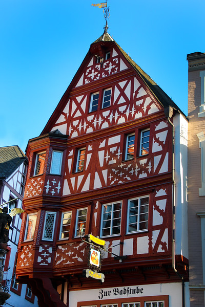 Bernkastel Germany, Half-Timbered House