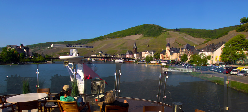 Viking River Cruise, Approach to Bernkastel from Top Deck