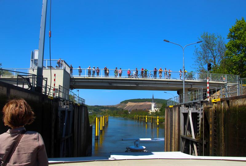 Viking River Cruise, Paris to Prague, Lock near Bernkastel
