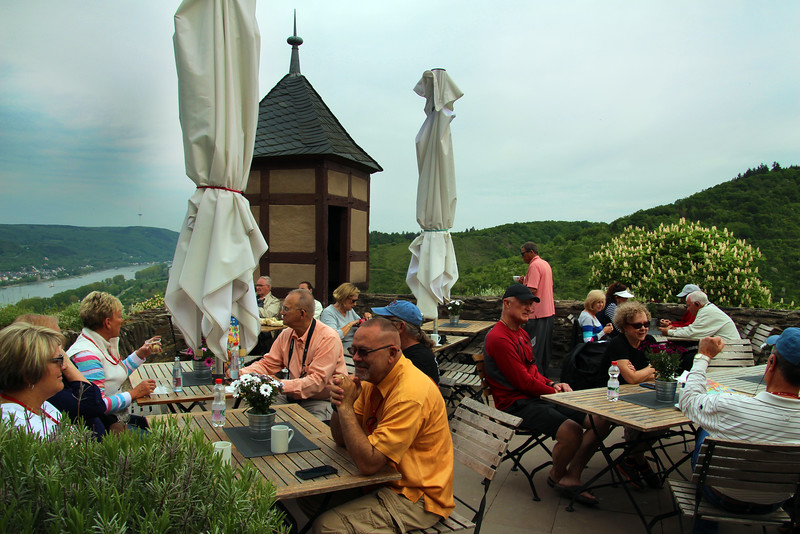 Braubach Germany, Marksburg Castle, Outdoor Cafe